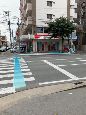 地下鉄六本松駅からの道順13
